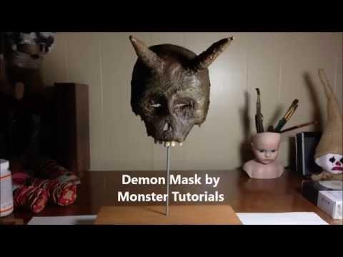 www.monstertutorials.com - Paper Mache Devil Mask
