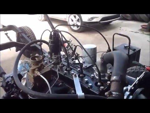 1962 willys jeep super hurricane 226 6 cylinder motor running in