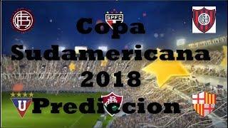 Predicciones Copa Sudamericana 2018  fase 1