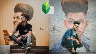 Snapseed Own Wall Photo Editing Tutorial Step By Step In Hindi-Khatarnak Creation