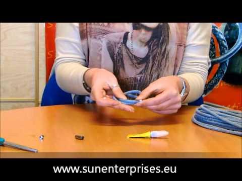Lederarmband flechten aus einem stück  Armband aus rundem Nappa Leder herstellen - YouTube