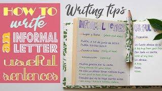 Writing Tips: Informal Leтter Useful sentences - Carta Informal Frases útiles