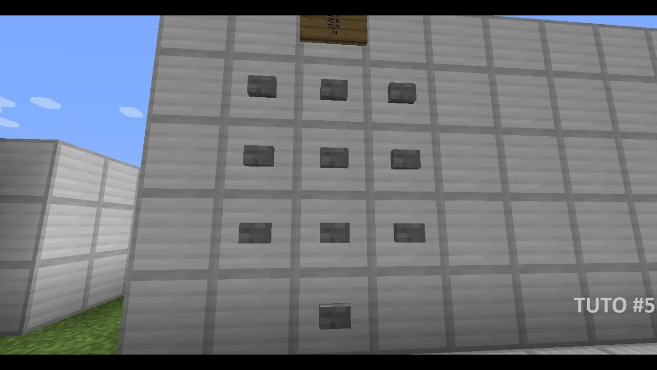 Minecraft porte a code a bouton tuto 5 youtube for Porte and minecraft