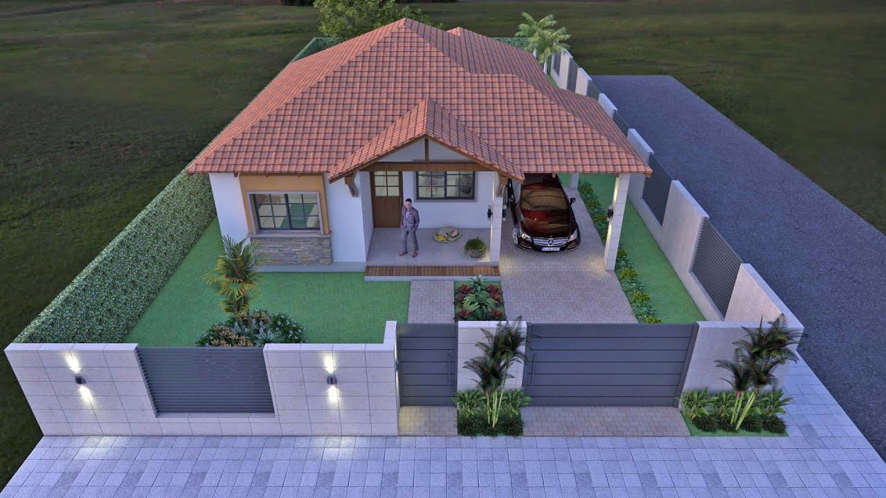 planos de casa campestre en un piso de 132 m2 arquitecto On planos de casas campestres gratis