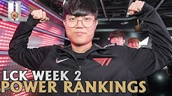 #LCK Week 2 Power Rankings: T1 Climbs Up the Board | 2020 Spring