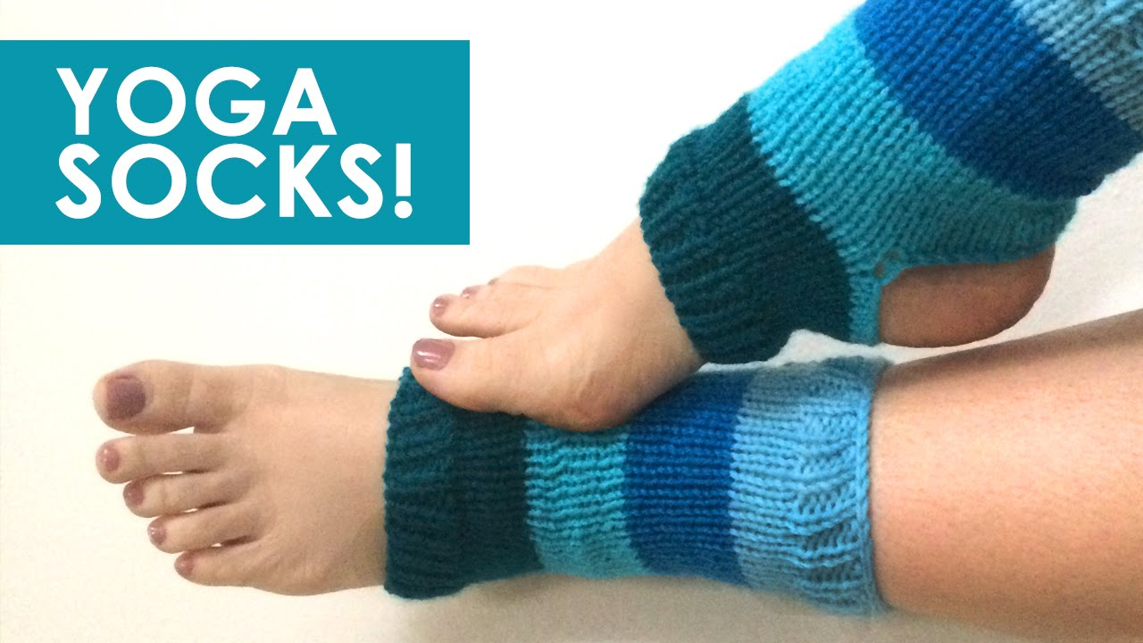 How to Knit YOGA SOCKS: Easy for Beginning Knitters - YouTube