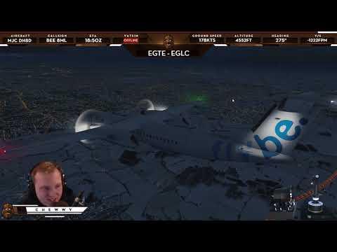[P3D v4.2] Real Life Traffic in Flight Simulator! | FlyBe Q400 at London City EGLC |