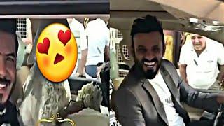 حصريا ✔✔ عروسة المنشد علي زورة 😍 هي وعريسها علي زورة بالسيارة واليسوق الباشا علي الدلفي ✔😎