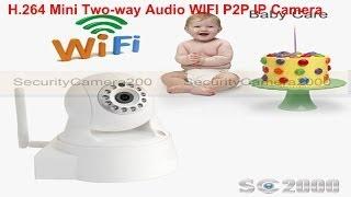 ipr1676x h 264 mini two way audio wifi pan tilt ip camera indoor shooting effect