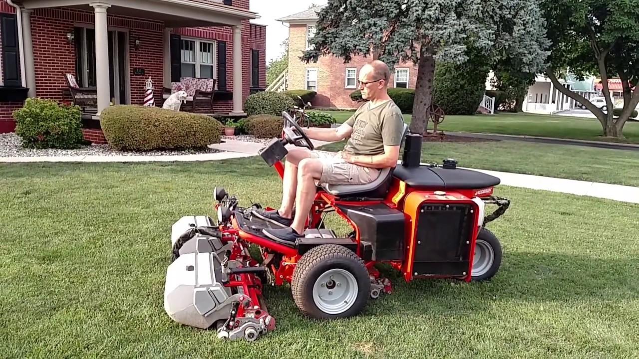 jacobsen g plex iii green mower diesel for sale 717 658 6848 4 youtube. Black Bedroom Furniture Sets. Home Design Ideas