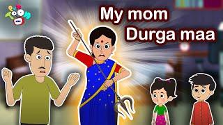 My Mom Durga Maa   Navratri Special   Moral Stories   English Cartoon   Animated Bedtime Stories