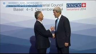 Basel OSCE Summit Arrivals: Ukraine tops the agenda at OSCE meeting
