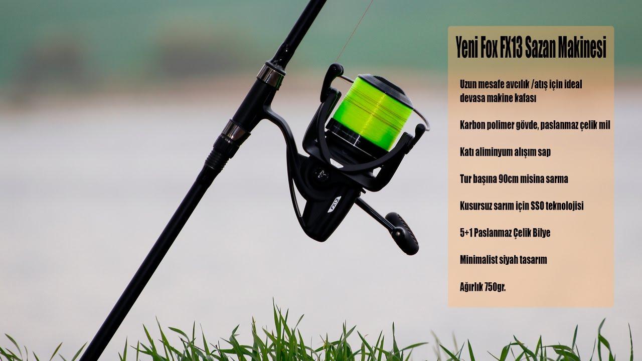 CRL071 Fox NEW x3 Carp Fishing FX13 Big Pit Reel