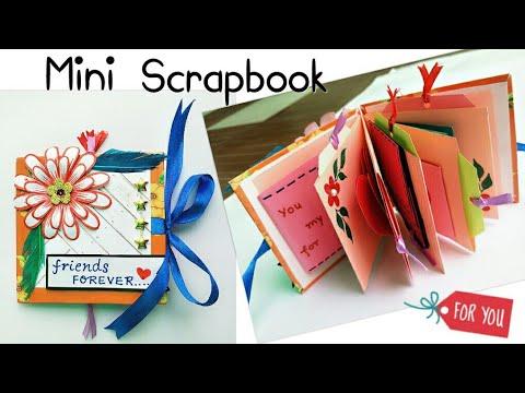 Mini Scrapbook/Mini Scrapbook for Friend/How to make Mini Scrapbook/Scrapbook Mini Album for Friends
