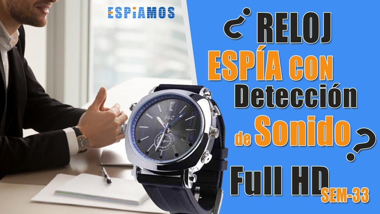 72b8435cc4fc RELOJ ESPIA CON IR FULL HD 1080P CON DETECCION DE SONIDO SEM-33 ...