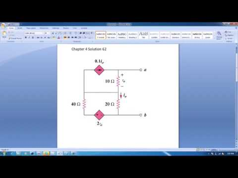 Exercise 4 62 & Practice problem 4 10 Solution to Fundamentals of Electric  Circuits 4th ed