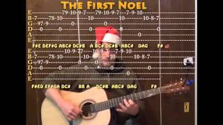 The First Noel (Christmas) Solo Guitar Cover Lesson Fingerstyle with TAB Arrangment