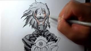 Dibujando a alucard del anime hellsing   speed draw