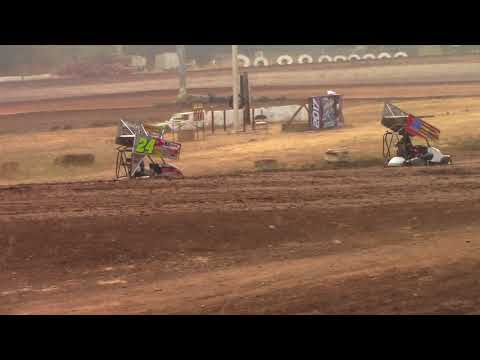 Cottage Grove Speedway, OR - King of the West - 125cc Cage-Kart Scramble Event - Sept. 3, 2017