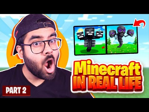 MINECRAFT MOBS IN REAL LIFE #2   Hitesh KS REACTION
