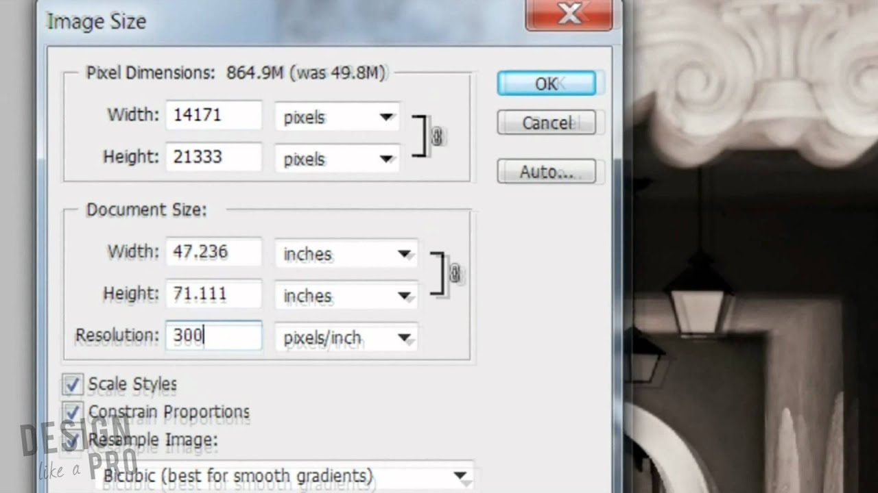 How to change the resolution of a photo in Photoshop YouTube