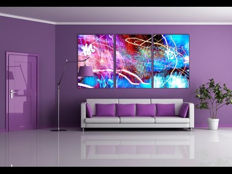 Purple wall paint living room furniture decor ideas