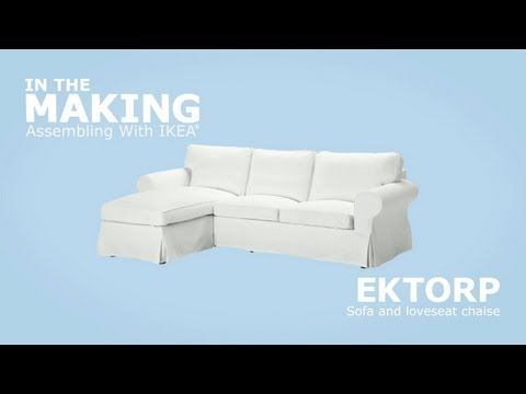 Ikea Ektorp Sofa And Chaise Assembly Instructions  Youtube