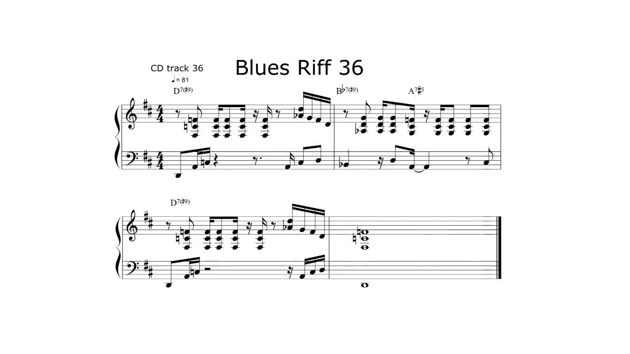 Blues Piano Riff of the Day