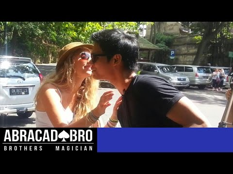 MAGIC KISSING PRANK INDONESIA. HOW TO GET KISS & PHONE NUMBER FROM GIRLS - abracadaBRO Pick Up Lines
