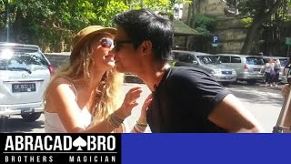 MAGIC KISSING PRANK & HOW TO GET GIRLS PHONE NUMBER - abracadaBRO Best Magic Tricks