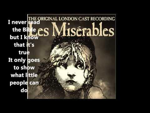 Little People (+ lyrics) Les Misérables The Original London Cast Recording
