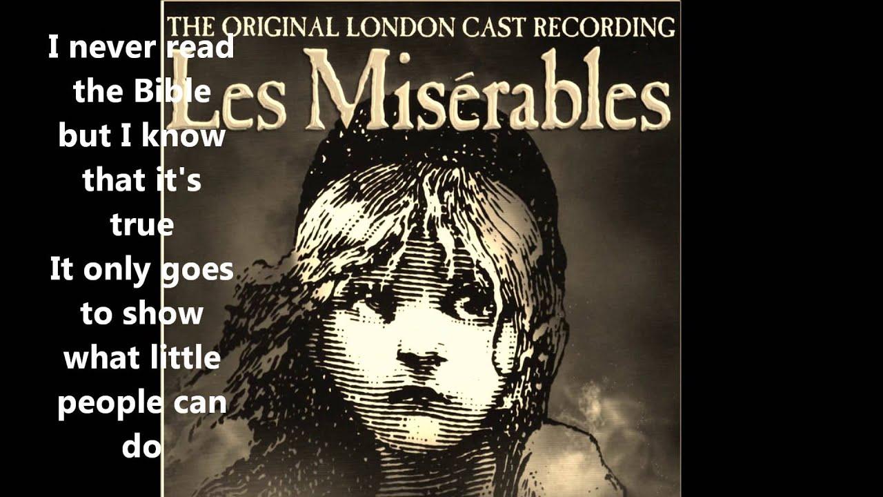 Little People (+ lyrics) Les Misérables The Original ...