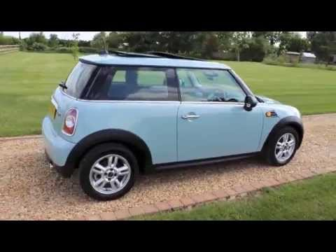 2012 Mini One Pepper Pack Ice Blue Panoramic Roof Youtube
