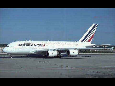 Air France Airbus A380 / Atlanta To Paris CDG / 4K Video