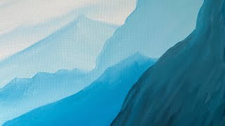 Blue Mountains in the Morning Mist - Acrylic Painting