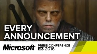 Every Announcement from Microsoft's E3 2016 Press Conference
