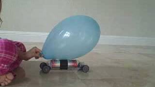 Newton Scooter Balloon Car