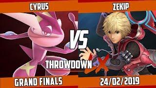 Throwdown LX #54 - Cyrus (Greninja) vs Zekip (Shulk) - SSBU Grand Finals