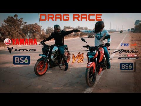 Download Yamaha MT15 BS6 vs TVS Apache RTR 160 4V BS6 || Drag race || Highway battle || Must watch 🔥