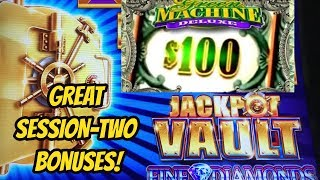 JACKPOT VAULT TWO BONUSES & GREEN MACHINE DELUXE