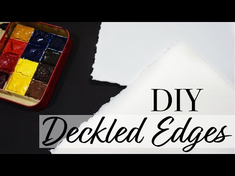 How To Get Deckled Edges on Watercolor Paper // Quick Tip Tuesday