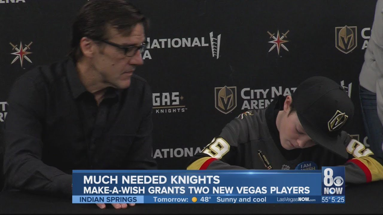 Golden Knights, Make-A-Wish grants two new players