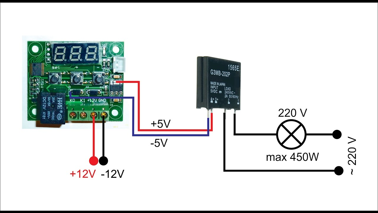 Digital Thermostat Using Solid State Relay Wiring Diagram Youtube Ormron Images Gallery W1209 Omron 450w 2a V2 0 Rh Com