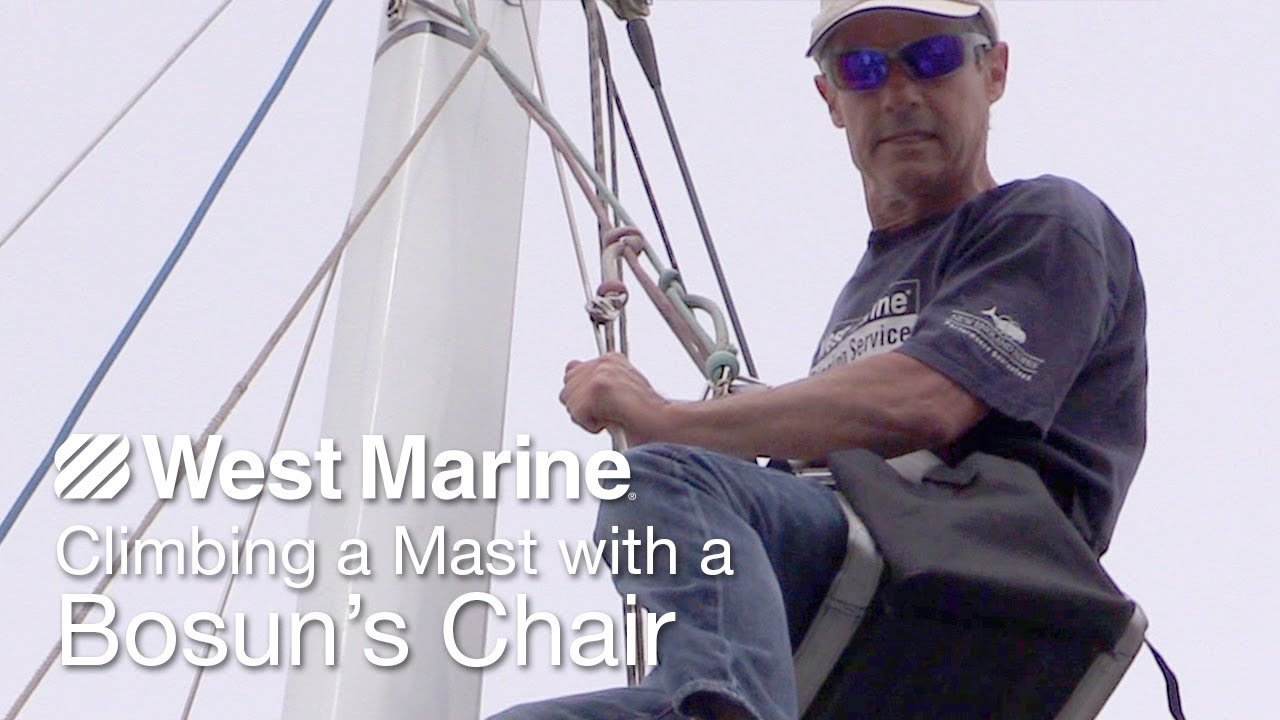 How to Climb a Mast with the Harken Bosuns Chair YouTube