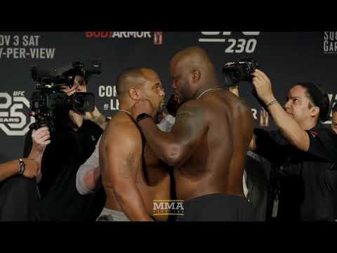 UFC 230: Daniel Cormier Vs. Derrick Lewis Weigh-In Staredown - MMA Fighting