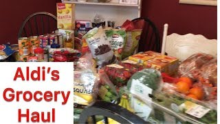 Large Family Aldi Grocery Haul