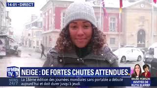 BFM TV : La neige à Rambouillet 2018 02 06 at 14 01
