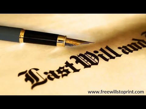 Create Your Last Will And Testament To Print Or Download For Free