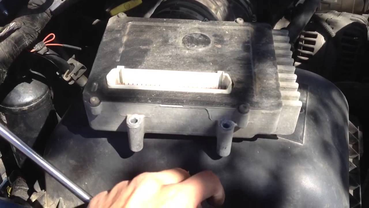 hight resolution of dodge ram 5 7 tcm removal