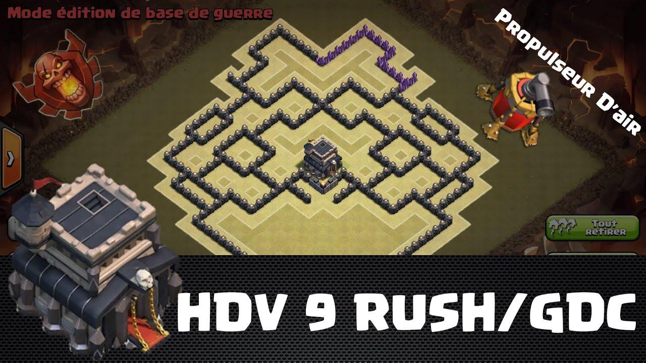 clash of clans hdv 9 village rush gdc propulseur d. Black Bedroom Furniture Sets. Home Design Ideas